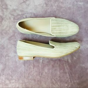 Cole Haan Shoes - NWOT Cole Haan White Gold Leather Loafer Flat